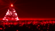 Red Christmas Tree video