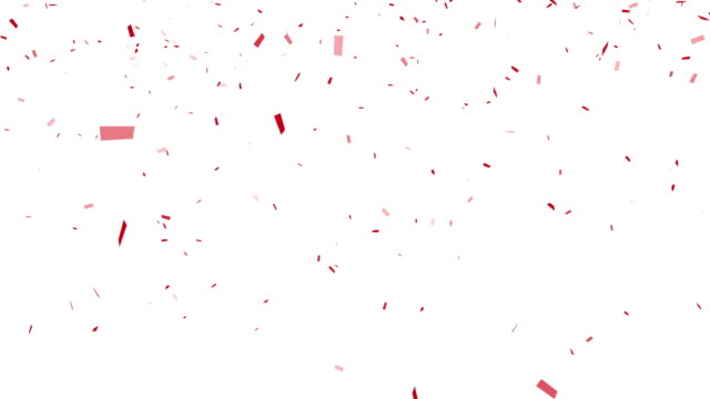 Red Confetti - alpha channel included video