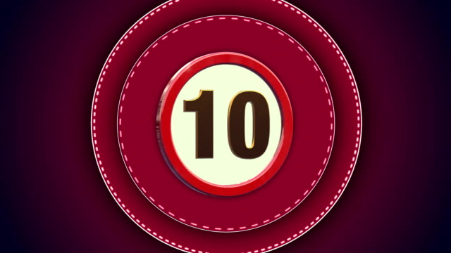 Red Countdown from 10 to 0 seconds - 4K VIDEO video