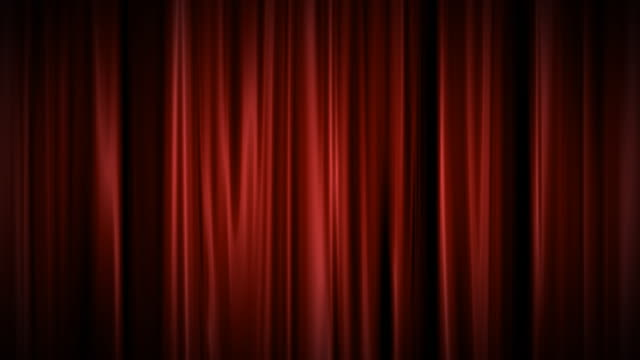 Red curtain background video