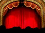 Red curtain lights (Loop) video
