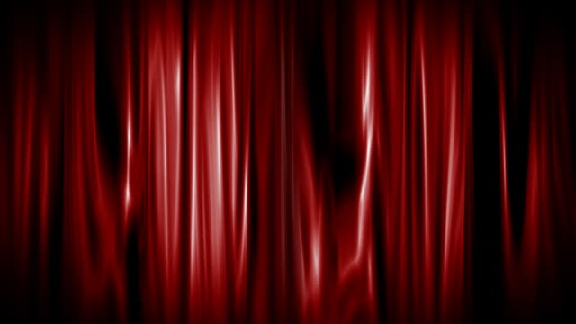 Red Curtain Opening with alpha matte video