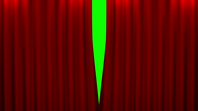 red curtain with green screen opening scene video