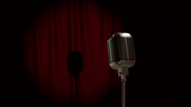 Red Curtain with Retro Microphone video