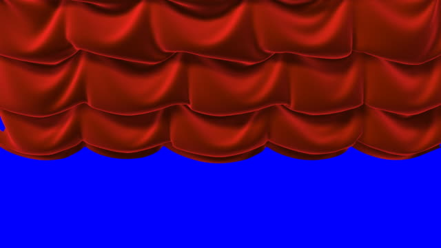 Red  curtains animation video