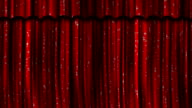 Red Curtains Open/Close with Green Screen plus Alpha Matte. video