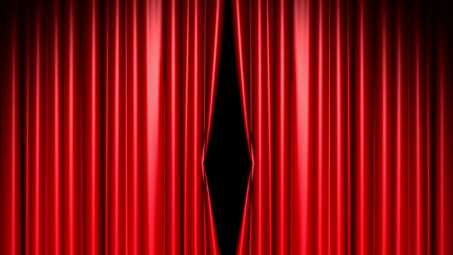Red curtains opening includes alpha luma matte video