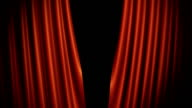 Red Curtains Opening. Includes Alpha. video