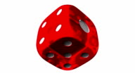 Red Dice On White Background video