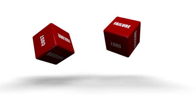 Red Dice With Business Words video