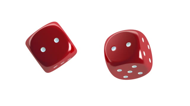 Red Dices Spinning video