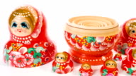 Red dolls matryoshka dolly video
