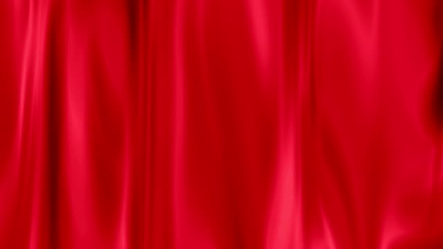 red draped curtain closed as background, texture effect video
