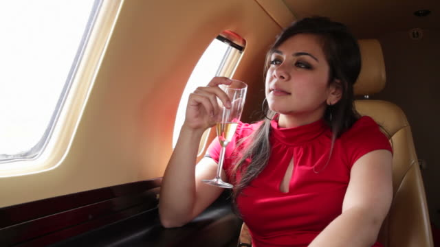 Red Dress Executive Jet video