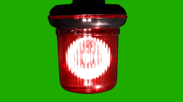 Red emergency light flashing with Alpha Channel-HD video