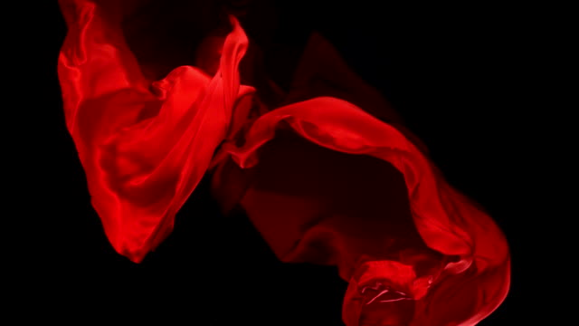 Red fabric, Slow Motion video