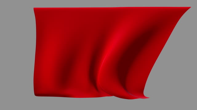 Red fabric waving from a ceiling video
