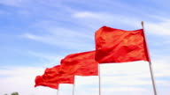 red flag waving on the wind video