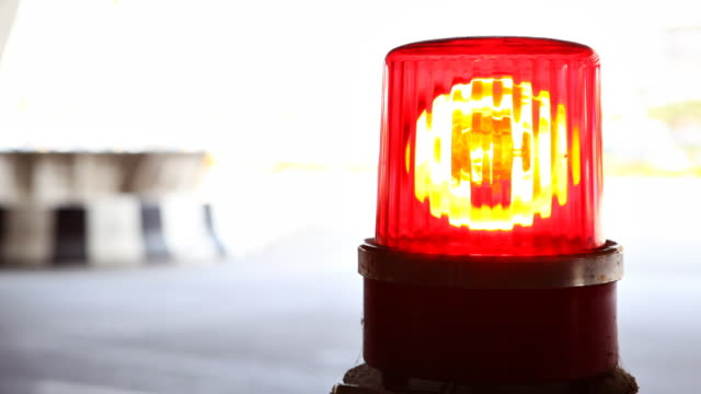Red Flashing Emergency Lights video