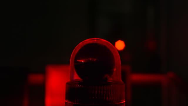 Red flashing light video