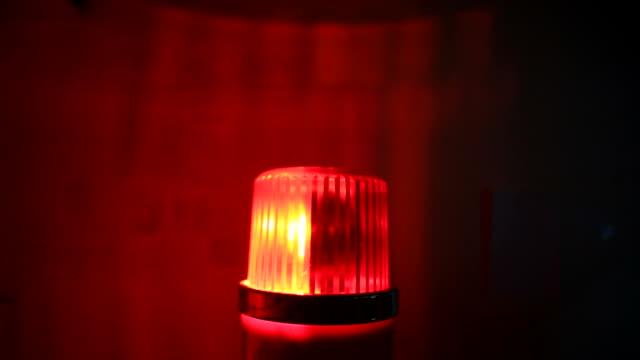 Red flashing warning siren light - Emergency services video