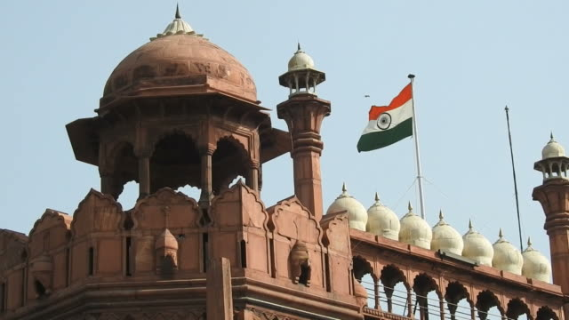 Red Fort, UNESCO World Heritage Site, Delhi, India video