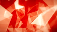 Red Geometric Triangles (Loopable) video