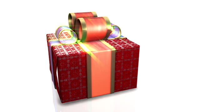 Red gifts on white background,holiday animation video