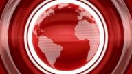 Red Glossy Globe video