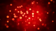 Red Glowing Circles Abstract Motion Background video