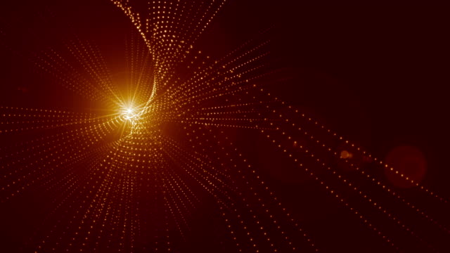 Red Glowing Particles Abstract Background video