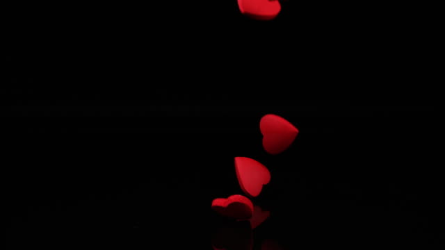Red Heart for Saint Valentine's Day, Slow Motion 4K video