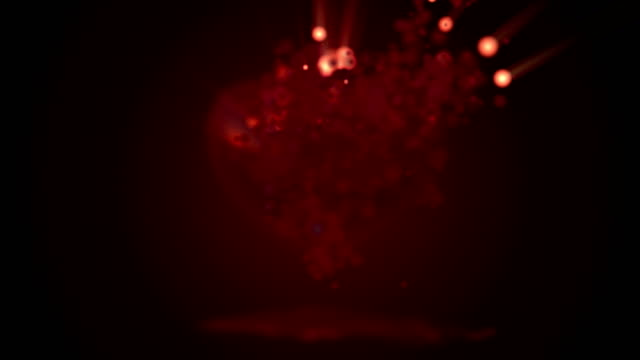 Red heart particle 4K animation  for valentine's day video
