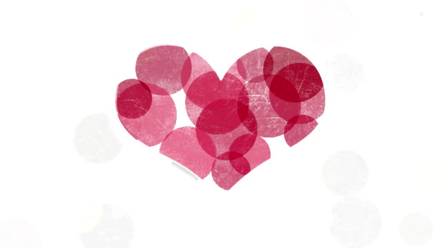 Red heart symbol abstract animation video