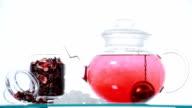 red Hibiscus tea video