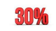 Red increasing percentage 0% - 100% video