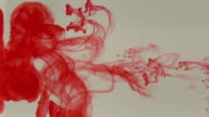 Red ink blood poured into water video