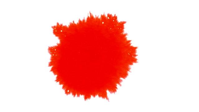 Red Ink Splatters video