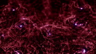 Red Intro Glittering particles sparkle seamless video
