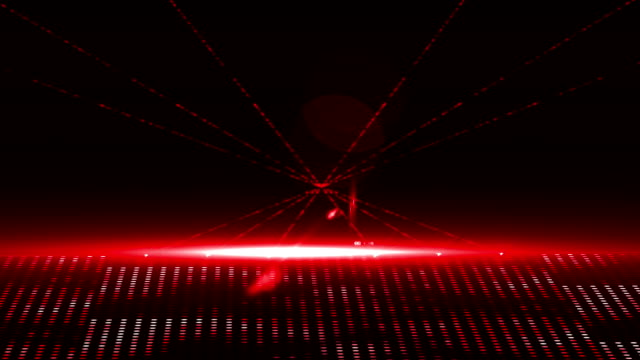 Red laser show with christmas text and clip video