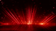 red light beams and shimmering particles loopable background video