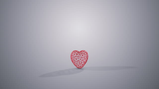 Red Loopable Spinning Heart video