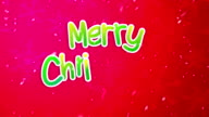 Red Merry Christmas Greeting Art Paper Card Animation video