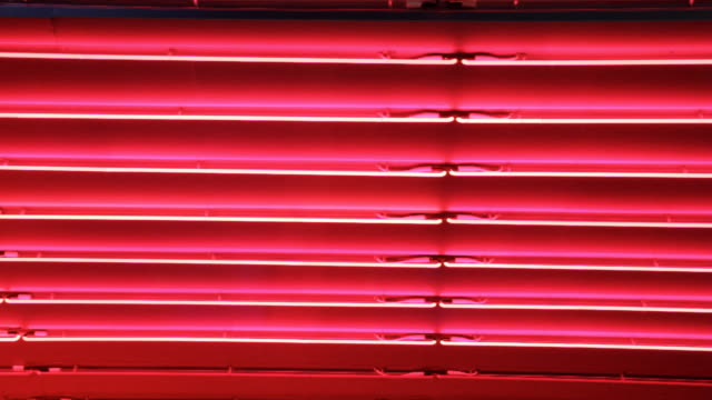 Red neon lights background. video