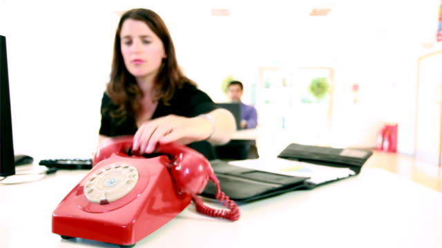Red office phone video