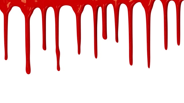 Red paint dripping down video
