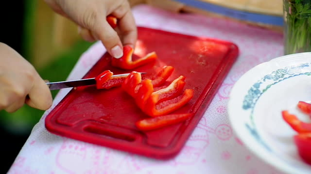 Red pepper vegetable video