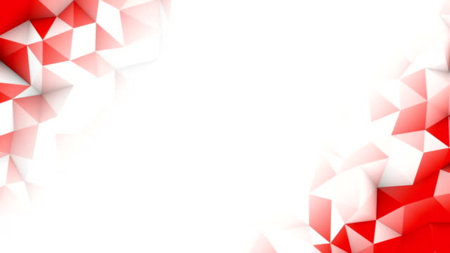 Red polygons and free space seamless loop 3D animation video