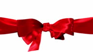 Red Ribbon and Bow Loop video