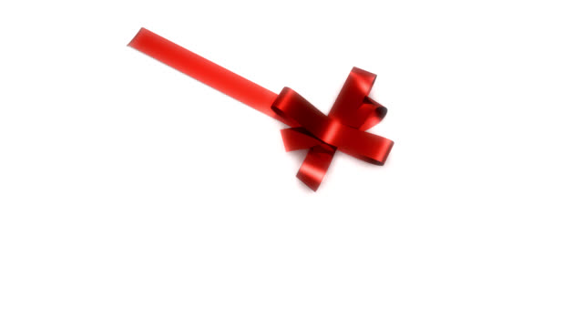 Red Ribbon tying on box (HD) video